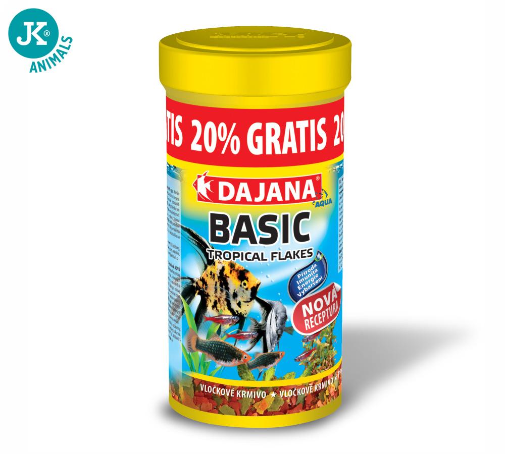 Dajana Basic Tropical flakes 250ml +20 % GRATIS   © copyright jk animals, všetky práva vyhradené