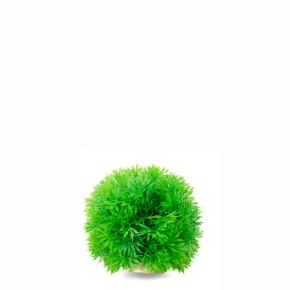 JK Tráva guľa zelená, akvarijná plastová rastlinka