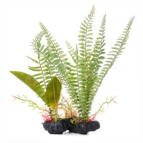 JK Papradie kameň, akvarijná plastová rastlinka