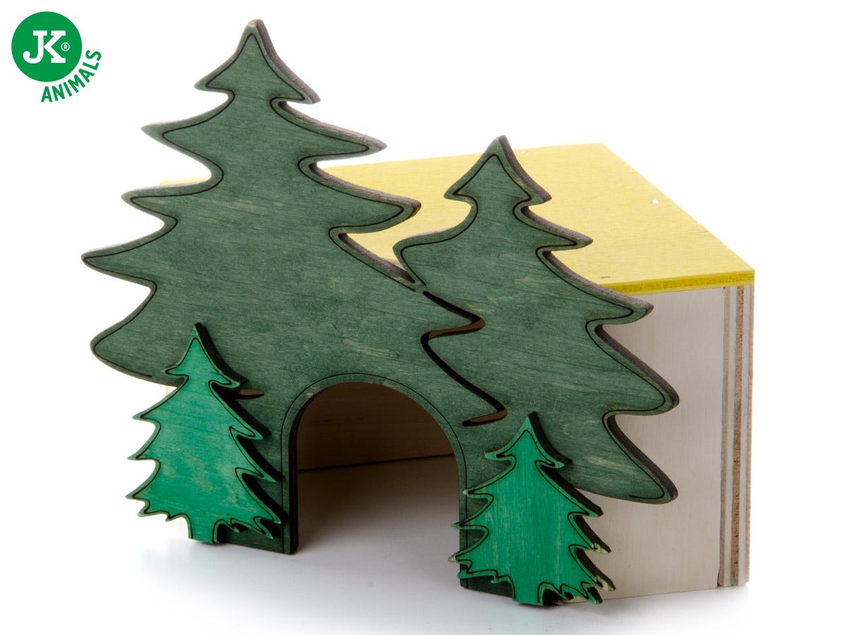 JK ANIMALS domček Les rohový č. 1, pre škrečky | © copyright jk animals, všetky práva vyhradené