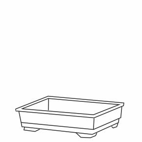 Inter zoo plastové dno pre klietku ROCKY+TARAS 41,5×28,5×9,5 cm