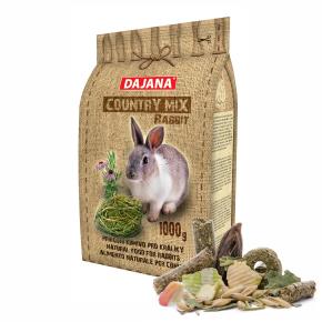 Dajana – COUNTRY MIX, Rabbit 1000 g, krmivo pre králiky