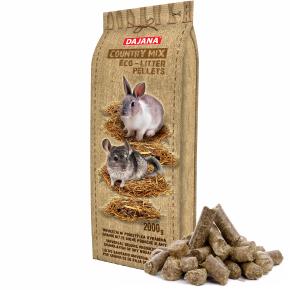 Dajana – COUNTRY MIX, Eco – litter pellets 2kg, podstielka pre hlodavce