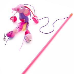 Plyšová myš na prúte, hračka