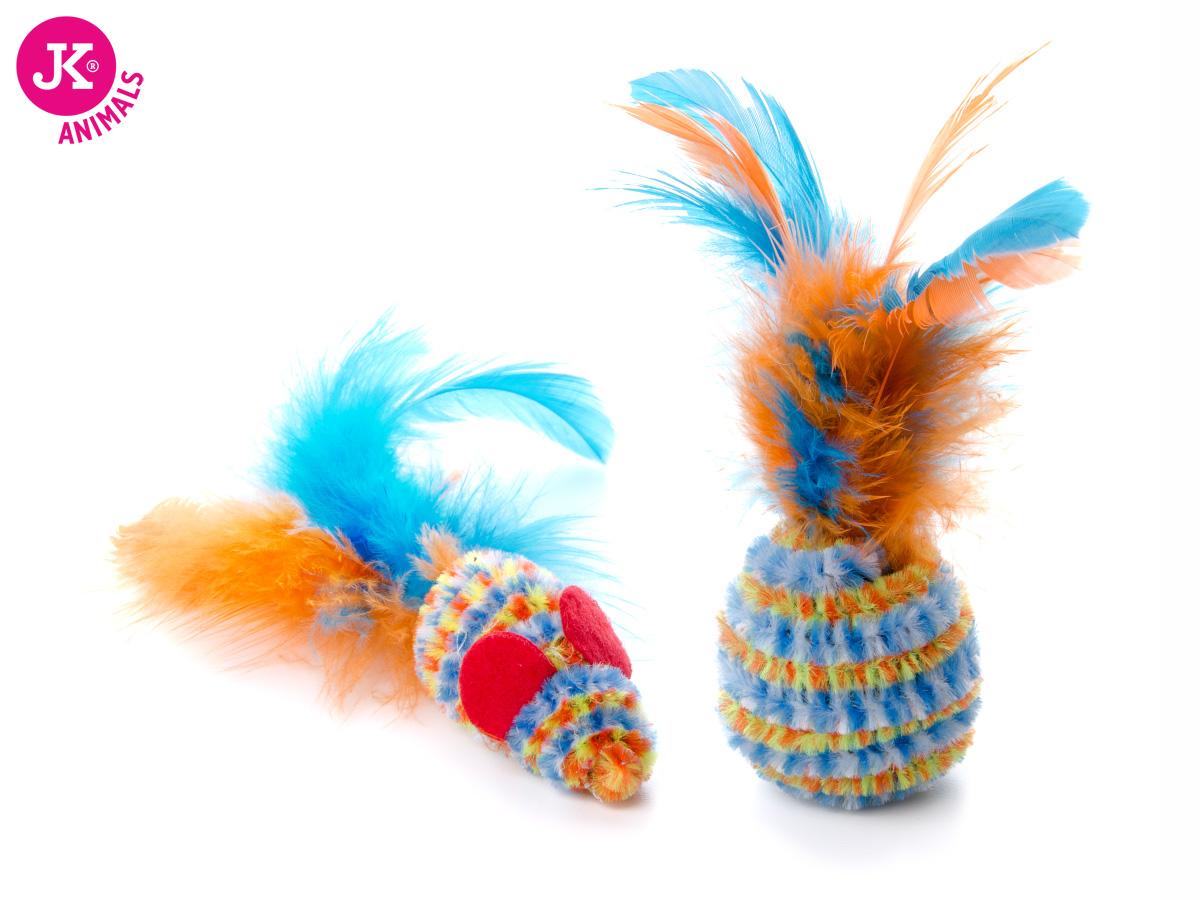 JK ANIMALS Loptička a myška s pierkom   © copyright jk animals, všetky práva vyhradené