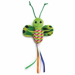 Zelený šuštiaci motýľ, hračka