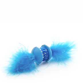 Modrá TPR činka s pierkom, hračka