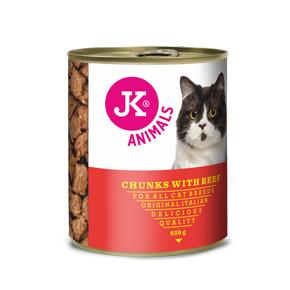 JK konzerva pre mačky s hovädzím mäsom 820g