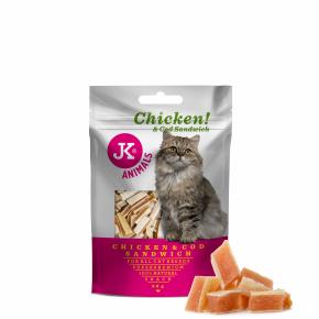 JK-Meat Snack Cat Chicken And Cod Sandwich 50g