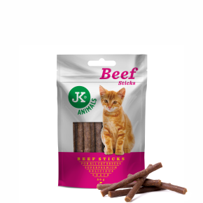 JK Meat Snack Cat Beef Sticks, masová maškrta