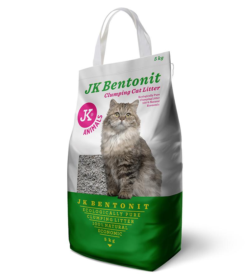 JK Bentonit - Cat Litter, 5kg | © copyright jk animals, všechna práva vyhrazena