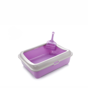 JK Plastová mačacia toaleta (WC) s okrajem a lopatkou