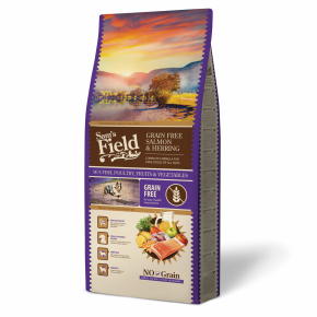 Sams Field Grain Free Salmon & Herring, superprémiové granule 13 kg (Sam's Field)
