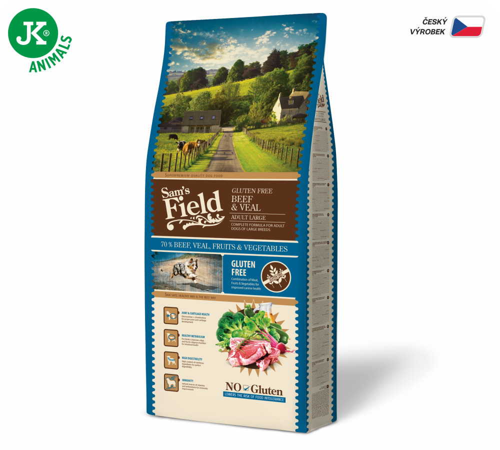 Sam's Field Glutén Free Adult Large Beef & Veal | © copyright jk animals, všetky práva vyhradené