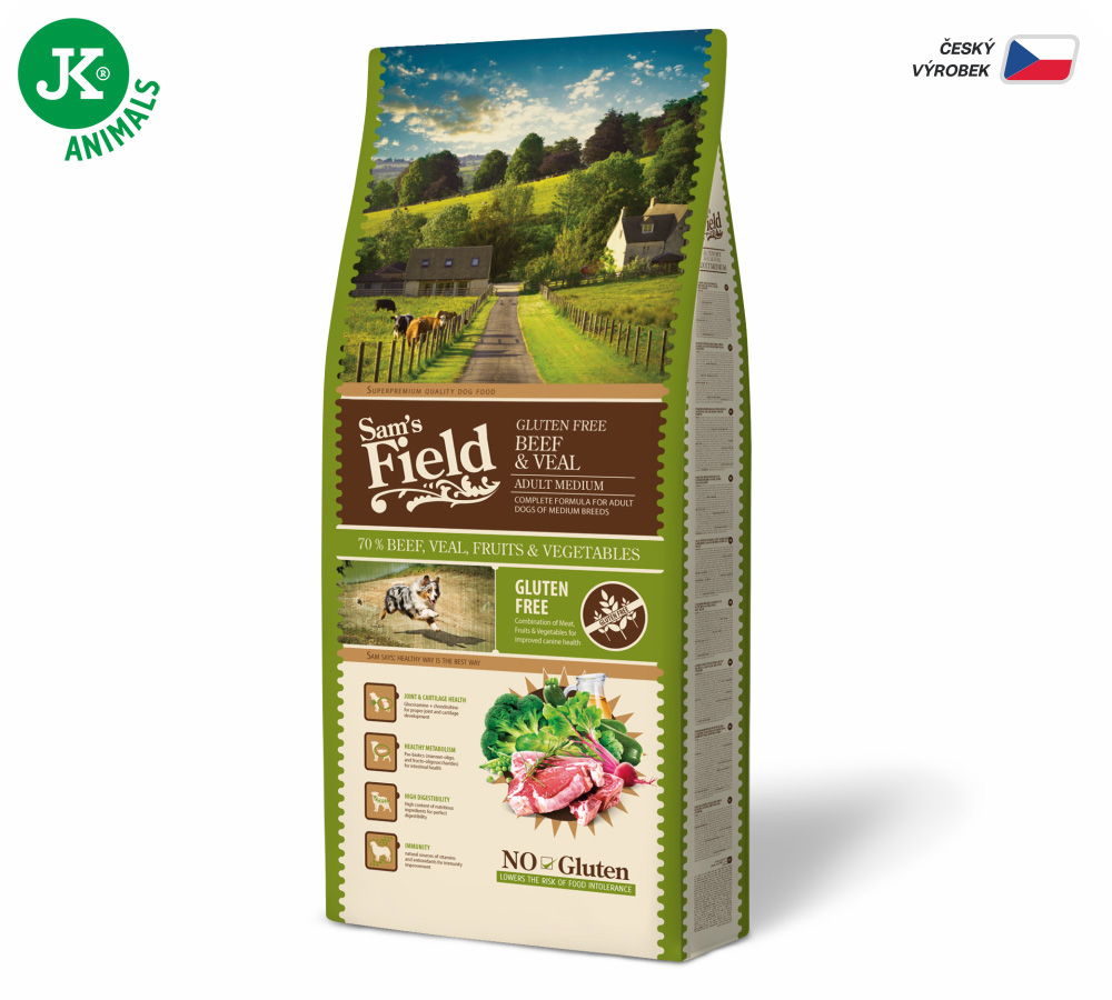 Sam's Field Gluten Free Adult Medium Beef & Veal | © copyright jk animals, všetky práva vyhradené