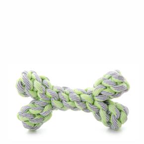 JK bavlnená kosť zelená, bavlnená hračka