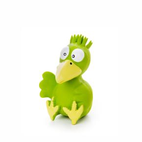Latexové vtáča zelené, cca 13cm, latexová hračka