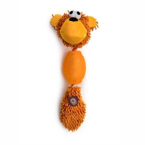 Opica mop + TPR loptička, plyšová pískacia hračka