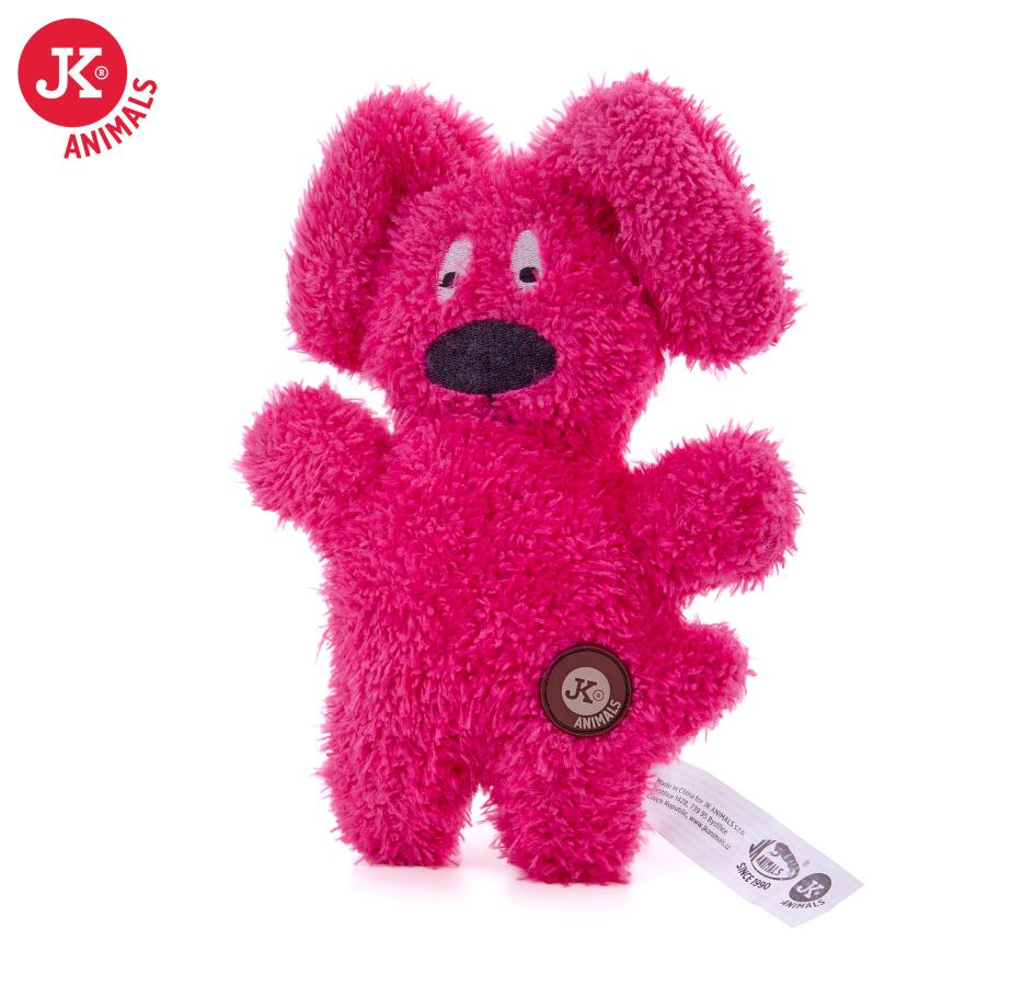JK ANIMALS Jemný plyšový psík červený   © copyright jk animals, všetky práva vyhradené