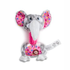 Plyšový slon s TPR krkom, plyšová pískacia hračka
