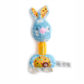 Plyšový králik s TPR krkom, plyšová pískacia hračka