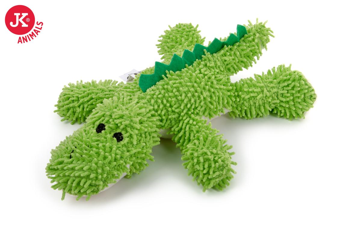 JK ANIMALS Plyšový krokodíl mop z jemného froté materiálu | © copyright jk animals, všetky práva vyhradené