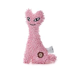 Mačka plyš ružová, plyšová pískacia hračka