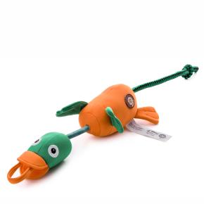 Lietajúca, vystreľovacia kačica, polyesterová pískacia a plávajúca hračka