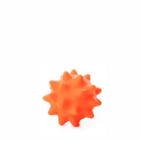 JK vinylová lopta s pichliačmi oranžová, vinylová (gumová) hračka