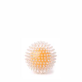 JK TPR lopta s pichliačmi žltá, odolná (gumová) hračka z termoplastickej gumy