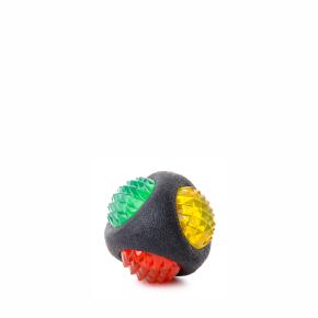 JK blikajúca LED TPR lopta STRONG, odolná (gumová) hračka z termoplastickej gumy
