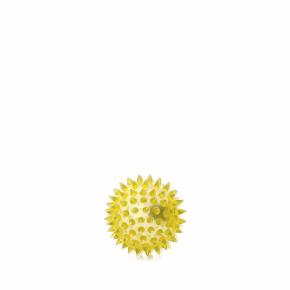 JK LED TPR loptička s pichliačmi žltá, odolná (gumová) hračka z termoplastickej gumy