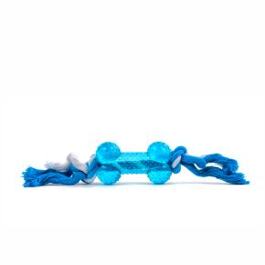 JK Bavlnený uzol s kosťou - modrý 8,5 cm