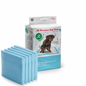 JK Premium Dog Pads 60×60cm, 10ks–plienky (podložky) pre psov a šteňatá