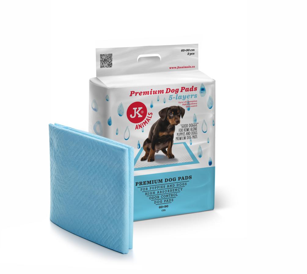 JK ANIMALS Premium Dog Pads 60 × 90 cm, 2 ks - plienky (podložky) pre psov a šteňatá   © copyright jk animals, všetky práva vyhradené