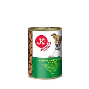 JK konzerva pre psov s divinou 415g