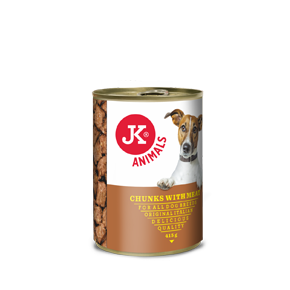 JK konzerva pre psov s mäsom 415g