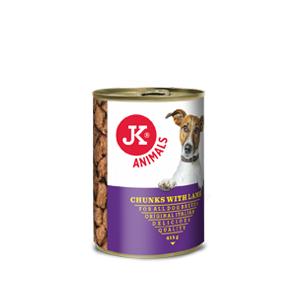 JK konzerva pre psov s jahňacím 415g