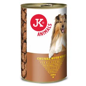JK konzerva pre psov s mäsom 1230g