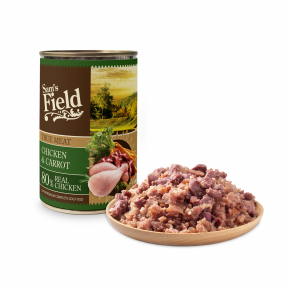 Sams Field konzerva s 80 % pravého kuracieho mäsa 400g