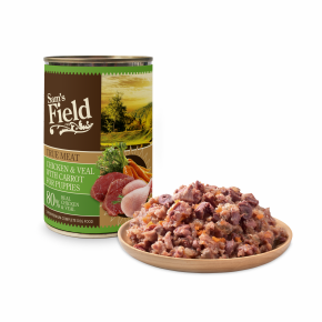 Sams Field konzerva s 80% pravého kuracieho a teľacieho mäsa 400g