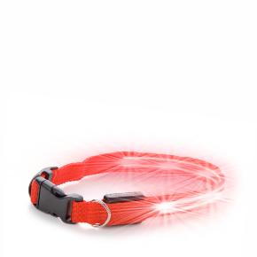 JK Nylonový LED obojok XS červený