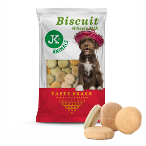 JK Biscuit - Wheel Mix - Tasty Snack 500 g