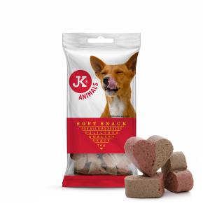JK Soft Snack – duo srdiečka, polovlhká maškrta 70g