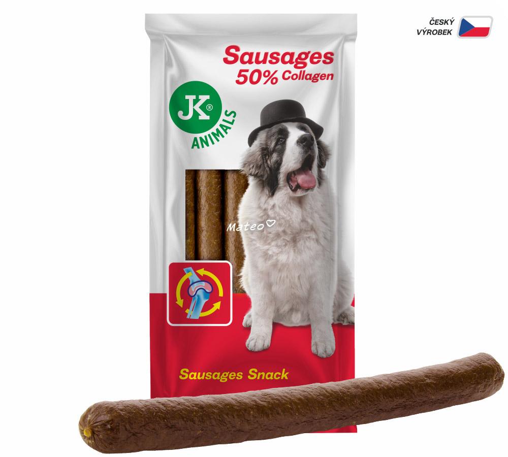 JK ANIMALS XS klobásy s kolagénom a slaninou (6 ks) | © copyright jk animals, všetky práva vyhradené