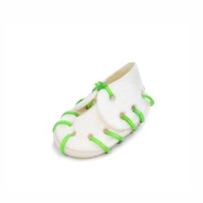 JK Biela topánka z kože malá 7 cm