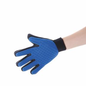 JK gumová vyčesávacia masážna rukavica