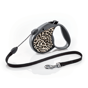 flexi Leopard Medium, lanko 5 m/20 kg