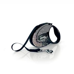 flexi Glam Splash Crystal Tape (pásik), veľkosť S, čierna