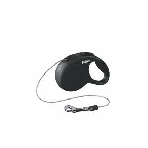 Flexi New Classic (lanko),veľkosť XS 3m/8kg čierna